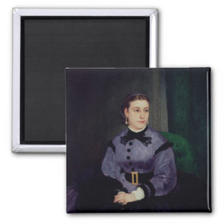 Portrait of Mademoiselle Sicot, 1865 2 Inch Square Magnet