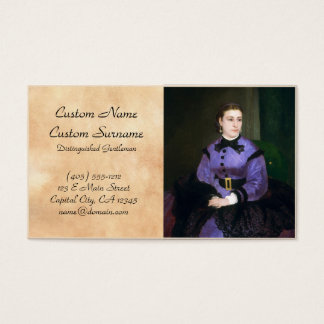 Portrait of Mademoiselle Sicot Auguste Renoir Business Card