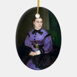 Portrait of Mademoiselle Sicot Auguste Renoir Ceramic Ornament