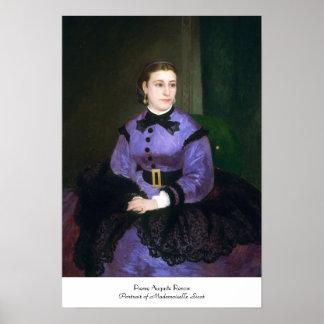 Portrait of Mademoiselle Sicot Auguste Renoir Poster