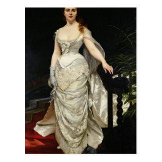 Portrait of Mademoiselle X, 1873 Postcard