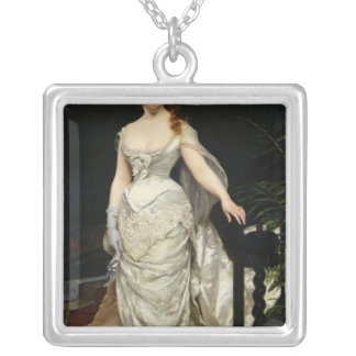 Portrait of Mademoiselle X, 1873 Silver Plated Necklace