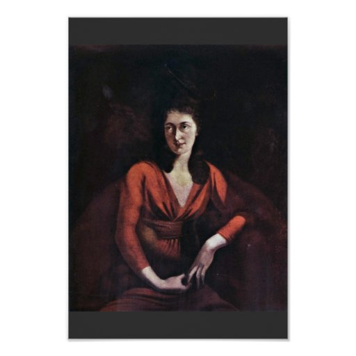 Portrait Of Magdalena Hess Of Zurich By Johann Hei Print