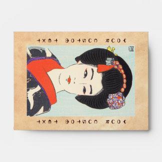 Portrait of Maiko Shunsen Natori japanese fine art Envelope