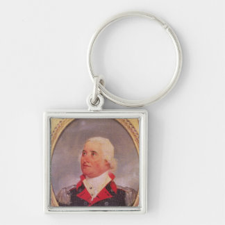 Portrait of Major General Charles C. Pinckney Silver-Colored Square Keychain