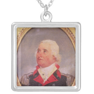 Portrait of Major General Charles C. Pinckney Silver Plated Necklace