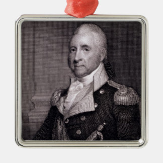Portrait of Major General John Brooks, engraved by Metal Ornament