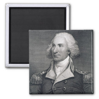 Portrait of Major General Philip Schuyler, engrave 2 Inch Square Magnet