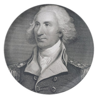 Portrait of Major General Philip Schuyler, engrave Party Plates