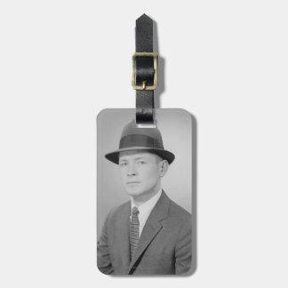 Portrait of Man Luggage Tag