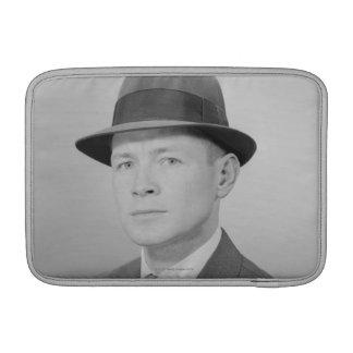 Portrait of Man MacBook Sleeves