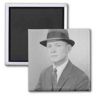 Portrait of Man Fridge Magnet