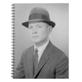 Portrait of Man Spiral Note Book