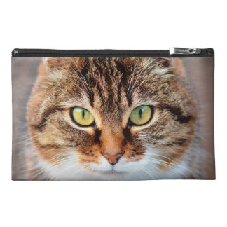 Portrait of Manx Cat Green-Eyed Travel Accessory Bags