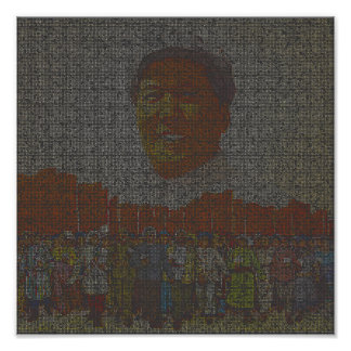 Portrait of Mao Poster