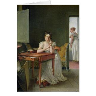 Portrait of Marceline Desbordes-Valmore Card