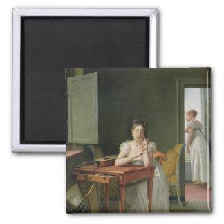 Portrait of Marceline Desbordes-Valmore Magnet