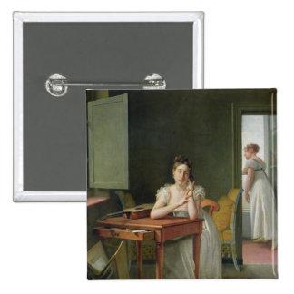 Portrait of Marceline Desbordes-Valmore Pinback Button