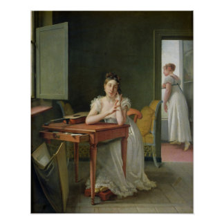 Portrait of Marceline Desbordes-Valmore Poster