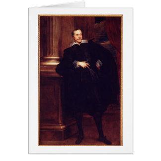 Portrait of Marcello Durazzo (oil on canvas) Card