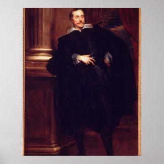 Portrait of Marcello Durazzo (oil on canvas) Poster