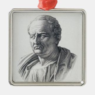 Portrait of Marcus Tullius Cicero Metal Ornament