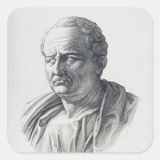 Portrait of Marcus Tullius Cicero Square Sticker