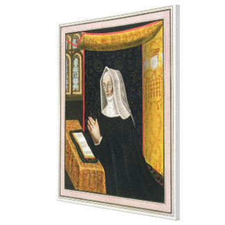 Portrait of Margaret Beaufort, Countess of Richmon Canvas Print