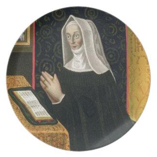 Portrait of Margaret Beaufort, Countess of Richmon Dinner Plate