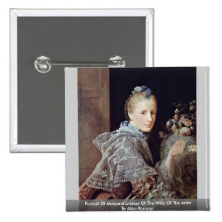 Portrait Of Margaret Lindsay By Allan Ramsay Pinback Buttons