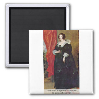 Portrait Of Margaret Of Lorraine Magnets