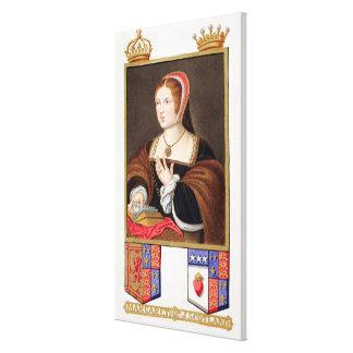 Portrait of Margaret Tudor (1489-1541) Queen of Sc Canvas Print