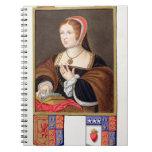 Portrait of Margaret Tudor (1489-1541) Queen of Sc Notebook