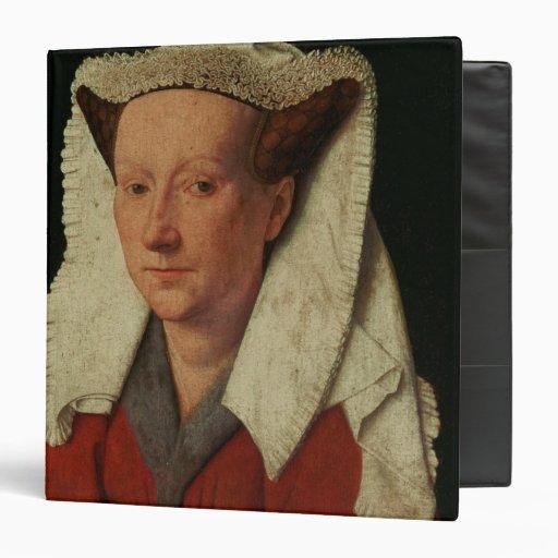Portrait of Margaret van Eyck, 1439 3 Ring Binders