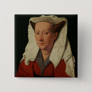 Portrait of Margaret van Eyck, 1439 Pinback Button