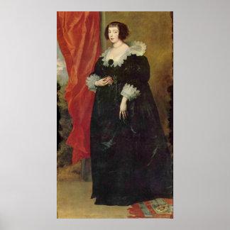 Portrait of Margaret von Lothringen by Van Dyck Poster