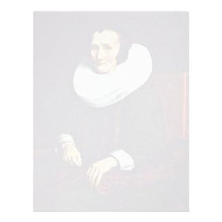 Portrait Of Margaretha De Geer, Wife Of Jacob Trip Custom Letterhead