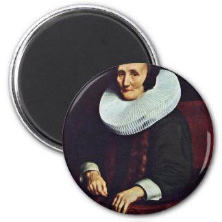 Portrait Of Margaretha De Geer, Wife Of Jacob Trip Fridge Magnet