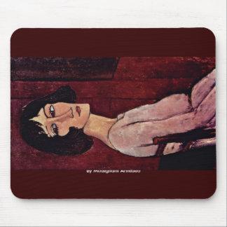 Portrait Of Margherita By Modigliani Amedeo Mousepads