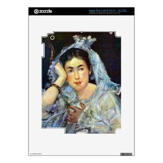 Portrait of Marguerite de Conflans by Manet iPad 3 Decals