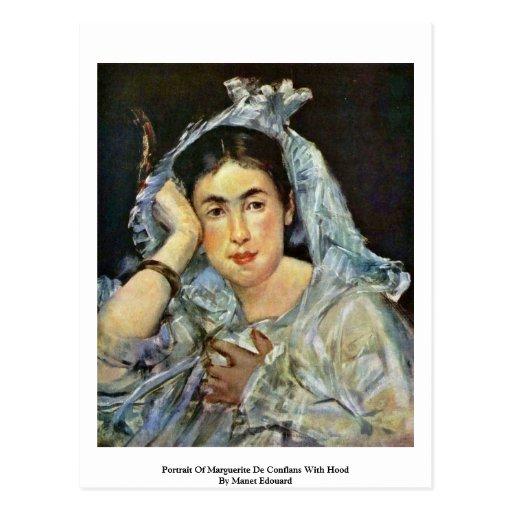 Portrait Of Marguerite De Conflans With Hood Post Card