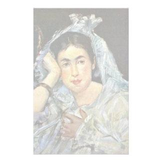 Portrait Of Marguerite De Conflans With Hood Stationery Design