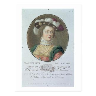 Portrait of Marguerite de Valois (1492-1549), 1787 Postcard
