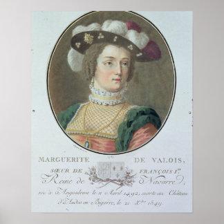 Portrait of Marguerite de Valois (1492-1549), 1787 Poster