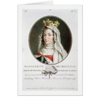 Portrait of Marguerite of Provence (1219-95), 1787 Card