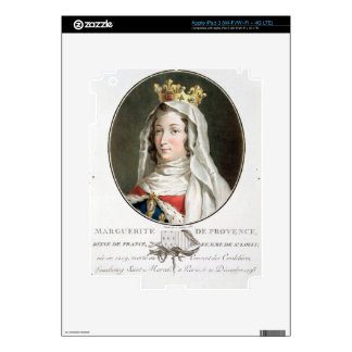 Portrait of Marguerite of Provence (1219-95), 1787 Skin For iPad 3