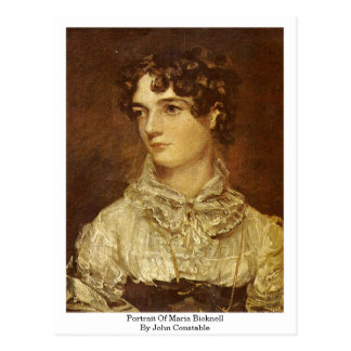 Portrait Of Maria Bicknell, By John Constable Postcard