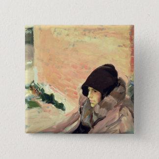 Portrait of Maria Convalescing Button