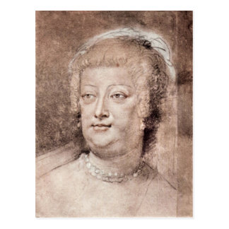 Portrait of Maria de' Medici by Paul Rubens Post Card