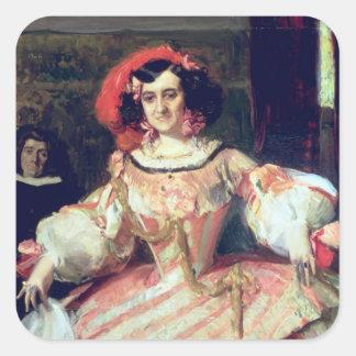Portrait of Maria Guerrero Square Sticker